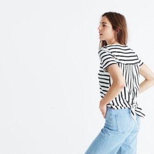 Madewell • Striped Tie Back Tee